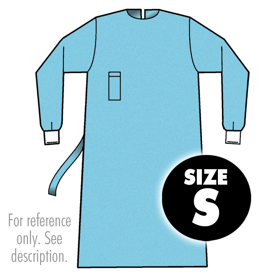 ACE Surgical Supply Co., Inc. Medline Surgical Gown - Blue, Latex ...